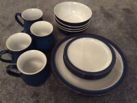 16 piece dinner set imperial blue denby collection