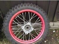 pit bike wheel and tyre never used like new