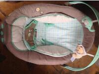 Baby bouncer chair music vibration