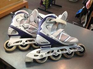Sabrina rollerblades -Women's 6- purple/white (sku: Z05079)
