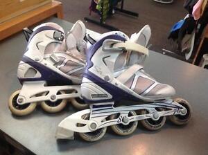 Sabrina rollerblades -Women's 6- purple/white (sku: Z05079)