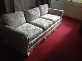 4 seater Classic Waring & Gillow cream sofa