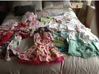 Baby girls clothes bundle 3-6months 53pieces
