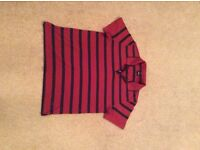 Four designer polo shirts. Boss, Ralph Lauren, Gant and Hackett