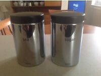 BRABANTIA MATCHING TEA AND SUGAR CANISTERS - BARGAIN PRICE