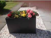 Large box type garden planters x 4. Metal. With removable inserts. Will split. HALF NEW PRICE