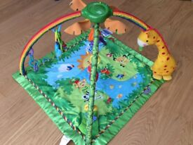 Fisher-Price rainforest melodies and lights baby playmat / gym