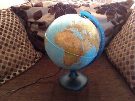 Light up globe ( needs a bulb)