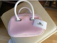 Lacoste pink handbag