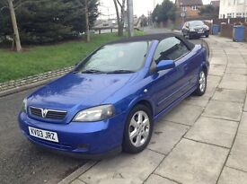 Low mileage Vauxhall Astra Convertable,
