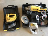 McKellwr angle grinder with attachments and McKeller electric jig saw