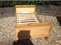 PINE TODDLER BED --can deliver --with free mattress