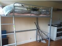 Bunk single bed (latex foam mattress included)