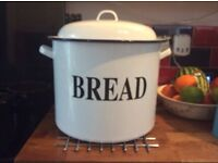 Large enamel breadbin