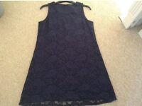 Navy Lace Dress Size 16