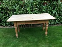Pine table with knife drawer