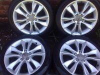 Mercedes, Audi, Volkswagen, Seat, GENUINE OEM, 17inch, Wheels white Tyres like New, 5x112, 225/45/17