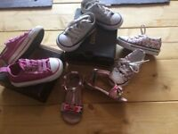 Infants girls converse,ted baker shoes