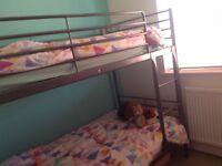 Ikea metal bunk beds including mattresses