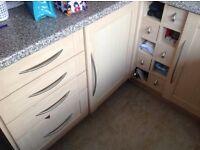 Second hand kitchen units, doors and worktops