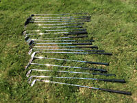 Used Clubs, of various sizes and quality. Around 20 clubs in bag.