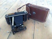 Antique Kodak Junior 620 Film Camera With Original Leather Case- Not sure if in working order
