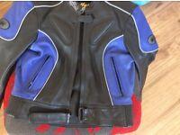 Leather bike jacket ( buffalo) size 14