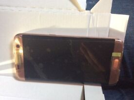 BRAND NEW! Samsung s7 edge 32g rose gold