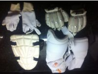 Boys cricket clothing & equipment for age 9-11 years not been used now. Get ready for next season.
