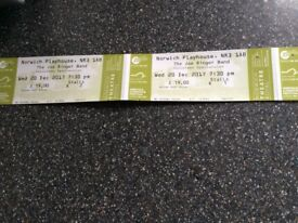 Two Tickets for The Joe Ringer Band Christmas Spectacular TONIGHT 20.12.17