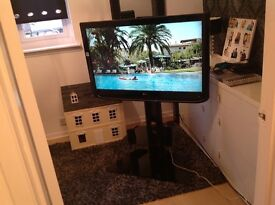LG 42 inch HD television and TV Stand