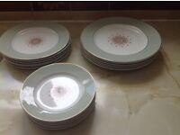 set of 18 plates