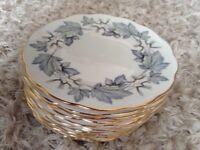 11 Royal Albert bone china side plates
