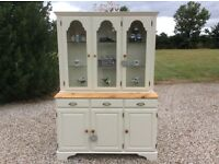 Shabby Chic Solid Pine DUCAL 3 Door Glazed Dresser Cabinet in Farrow & Ball
