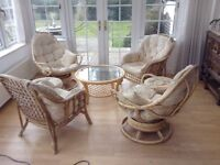 Cane Furniture - armchairs, swivel chairs, stools, coffee table