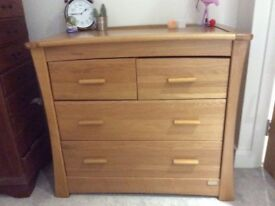 Mamas and Papas Chest of Drawers / Changing Table. Golden Oak Ocean Range