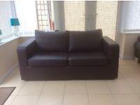 Leather look bed settee 160cm width x 76cm depth