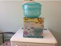 Tommee Tippee microwave baby bottle steriliser.