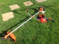 Almost new Aztec petrol brush cutter,with harness.