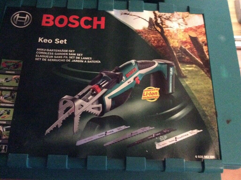 Bosch Keo Cordless Garden Saw with Integrated 10.8 V Lithium-on Battery