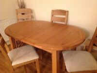 Extending table and 4 chairs can be delivered