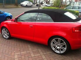AUDI A3 CONVERTIBLE 1.9TDI SLINE RED