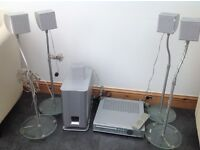 Sony home cinema system with 5 speakers and woofer