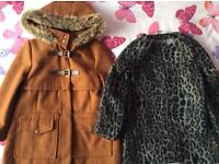 2 LOVELY GIRLS WINTER COATS AGE5-6