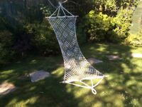 Handwoven cotton macrame hammock - unused
