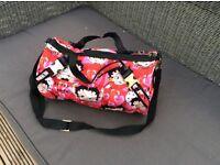 Beautiful Betty book bag and cosmetic bag