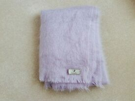 Bronte mohair throw - lilac