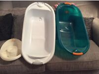 Baby baths and top and tails bowl