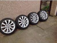 Jaguar XF Wheels with winter tyres