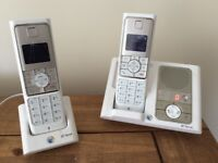 Twin 450 Verve BT phones with answer machine in white
